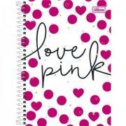 Caderno Capa Dura Universitário Love Pink 10 Matérias - 200 Folhas