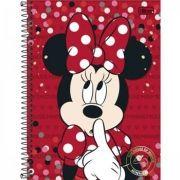Caderno Capa Dura Universitário Minnie 12m 240fls