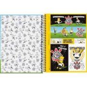 Caderno Capa Dura Universitário Simpsons Corinthians 1m 96fls