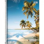 Caderno Capa Dura Universitário Verão 10 Matérias