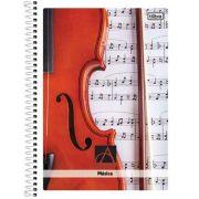 Caderno Capa Forte Espiral Universitário Música Académie 96fls