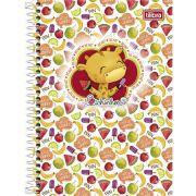 Caderno Espiral Capa Dura Pequeno Bichinhos - 96 Folhas