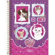 Caderno Espiral Capa Dura Pequeno Jolie Pet - 96 Folhas