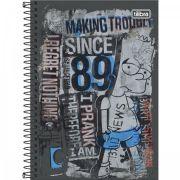 Caderno Espiral Capa Dura Pequeno Simpsons 96 Folhas