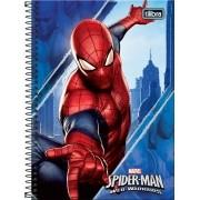 Caderno Espiral Capa Dura 1/4 Spider-man 96 Folhas