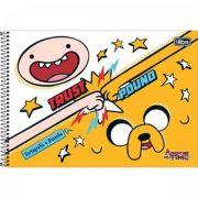 Caderno Espiral Capa Dura Cartografia e Desenho Adventure Time 96fls