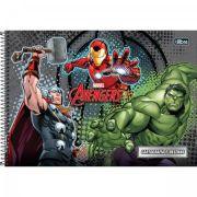 Caderno Espiral Capa Dura Cartografia e Desenho Avengers Assemble - 96 Folhas