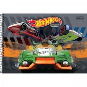 Caderno Espiral Capa Dura Cartografia e Desenho Hot Wheels 96fls