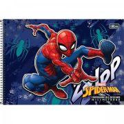 Caderno Espiral Capa Dura Cartografia e Desenho Milimetrado Spider Man 96 Fls