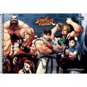 Caderno Espiral Capa Dura Cartografia e Desenho Street Fighter 80 Folhas - Capas Sortidas