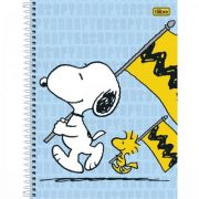 Caderno Espiral Capa Dura Pequeno Snoopy - 96 Folhas
