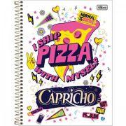 Caderno Espiral Capa Dura Universitário 12 Matéria Capricho - 240 Folhas