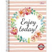 Caderno Espiral Capa Dura Universitário 20 Matérias Pepper Feminino - 320 Folhas