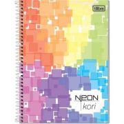 Caderno Espiral Pequeno Neon Kori 96 Fls Sem Pauta