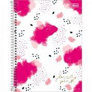 Caderno Espiral Tilibra Capa Dura Universitário 1 Matéria Love Pink - 80 Folhas - Capas Sortidas