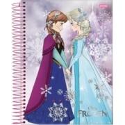 Caderno Espiral Universitário Capa Dura Frozen 96 Fls