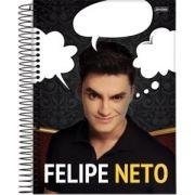 Caderno Espiral Universitário Capa Dura Youtubers -  1x1 96fls