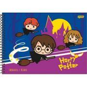 Caderno Jandaia Espiral Desenho Harry Potter - 96 Folhas