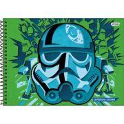 Caderno Jandaia Espiral Desenho Star Wars - 96 Folhas