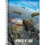 CADERNO PEQUENO ESPIRAL CAPA DURA TILIBRA 1/4 FREE FIRE - 80 FOLHAS