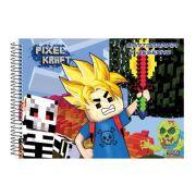 Caderno São Domingos Espiral Desenho Pixel Kraft - 60 Folhas - Capas Sortidas