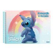 Caderno São Domingos Espiral Desenho Stitch - 60 Folhas