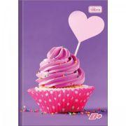 Caderno Tilibra Brochura Capa Dura Pequeno D+ 96 Folhas