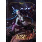 Caderno Tilibra Brochura Capa Dura 1/4 League Of Legends - 80 Folhas