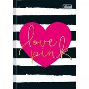 Caderno Tilibra Brochura Capa Dura Pequeno Love Pink - 48 Folhas