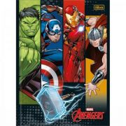 Caderno Tilibra Brochura Capa Dura 1/4 Pequeno Avengers - 48 Folhas