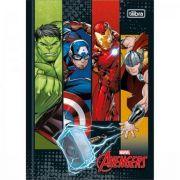Caderno Tilibra Brochura Capa Dura 1/4 Pequeno Avengers - 80 Folhas - Capas Sortidas