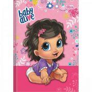 Caderno Tilibra Brochura Capa Dura 1/4 Pequeno Baby Alive - 80 Folhas