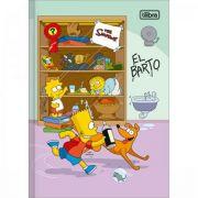 Caderno Tilibra Brochura Capa Dura 1/4 Pequeno Simpsons - 80 Folhas