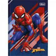 Caderno Tilibra Brochura Capa Dura 1/4 Pequeno Spider-man - 80 Folhas