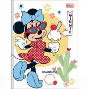 Caderno Tilibra Brochura Capa Dura Caligrafia Minnie - 40 Folhas