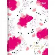 Caderno Tilibra Brochura Capa Dura Pequeno 1/4 Love Pink - 80 Folhas