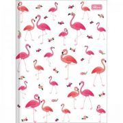 Caderno Tilibra Brochura Capa Dura Pequeno Aloha Flamingo - 80 Folhas