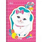 Caderno Tilibra Brochura Capa Dura Pequeno Jolie Pet - 80 Folhas - Capas Sortidas