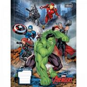 Caderno Tilibra Caligrafia Brochura Capa Dura Avengers 40 Folhas