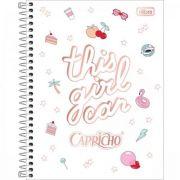 Caderno Tilibra Capa Dura Colegial Capricho 1 Matéria 80 Folhas - Capas Sortidas