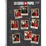 Caderno Tilibra Capa Dura Universitário 10 Matérias La Casa de Papel 160 Folhas - Capas Sortidas