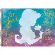 Caderno Tilibra Cartografia e Desenho Espiral Capa Dura Aladdin - 80 Folhas