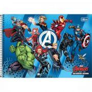Caderno Tilibra Cartografia e Desenho Espiral Capa Dura Avengers - 80 Folhas