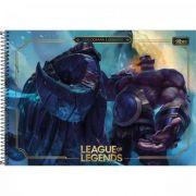 Caderno Tilibra Cartografia e Desenho Espiral Capa Dura League Of Legends - 80 Folhas - Capas Sortidas