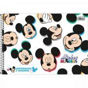 Caderno Tilibra Cartografia e Desenho Espiral Capa Dura Mickey - 80 Folhas - Capas Sortidas