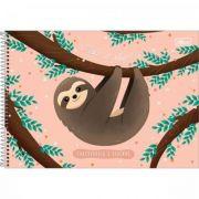 Caderno Tilibra Cartografia e Desenho Espiral Capa Dura Nap Nap Preguiça - 80 Folhas