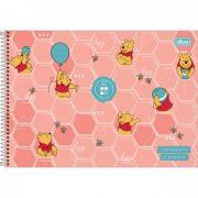 Caderno Tilibra Cartografia e Desenho Espiral Capa Dura Pooh - 80 Folhas