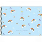 Caderno Tilibra Cartografia e Desenho Espiral Capa Dura Rainbow - 80 Folhas