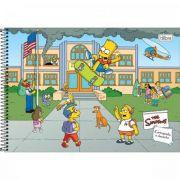 Caderno Tilibra Cartografia e Desenho Espiral Capa Dura Simpsons - 80 Folhas