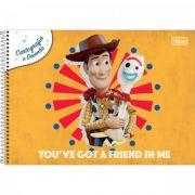 Caderno Tilibra Cartografia e Desenho Espiral Capa Dura Toy Story - 80 Folhas